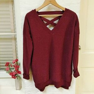 Women's Tunic Sweater L